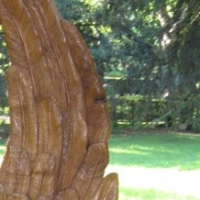 Flügel, Eiche lasiert, Hauptfriedhof,