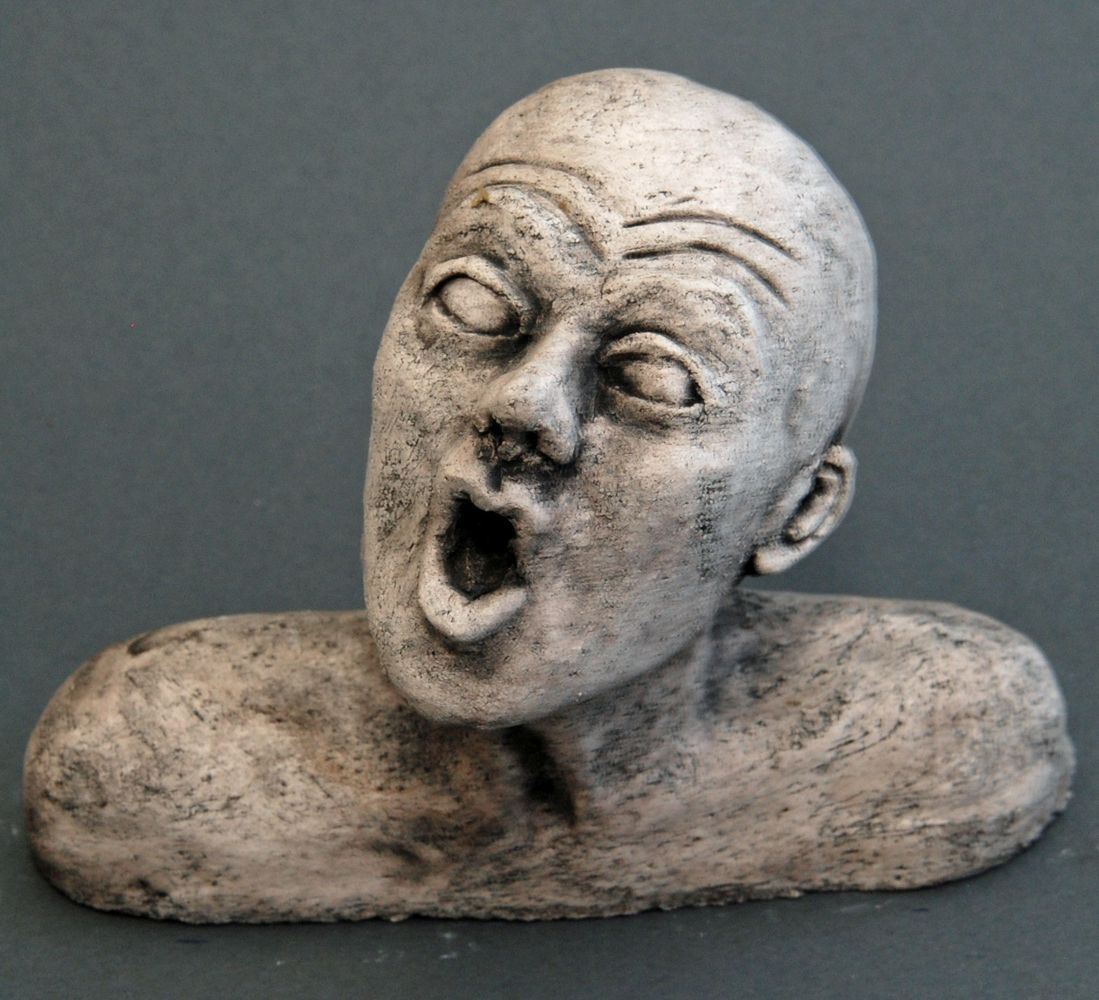 Seelenbilder der Gesang, Keramik, 17 x 3,5 x 14 cm