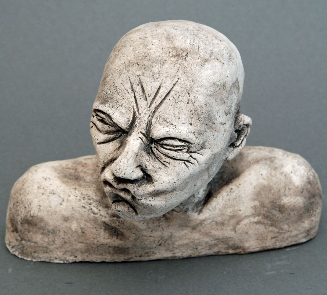 Seelenbilder die Rache, Keramik, Größe: 17 x 3,5 x 14 cm