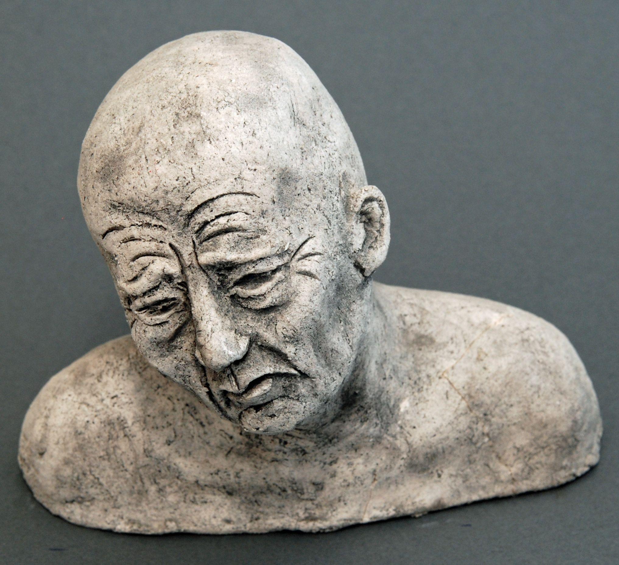 Seelenbilder die Trauer, Keramik, 17 x 3,5 x 14 cm