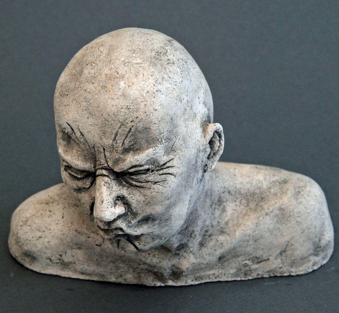 Seelenbilder die Wut, Keramik, 17 x 3,5 x 14 cm