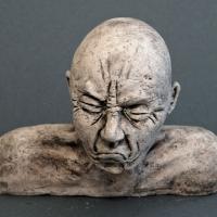 Seelenbilder der Missmut, Keramik, 17 x 3,5 x 14 cm