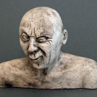 Seelenbilder die Schalkhaftigkeit, Keramik, 17 x 3,5 x 14 cm